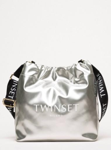 TWINSET Milano BORSA SECCHIELLO IN SIMILPELLE EFFETTO VINILE - 201TA7177 00436 - Tadolini Abbigliamento