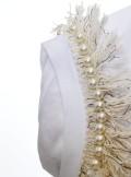TWINSET Milano T-SHIRT CON FRANGE E RICAMO DI PERLE - 201TP2210 - Tadolini Abbigliamento