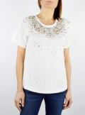 TWINSET Milano T-SHIRT CON PIZZO E RICAMATO - 201TP246A 00001 - Tadolini Abbigliamento