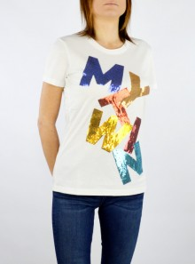 My Twin TWINSET T-SHIRT CON LOGO IN PAILLETTES - 201MT2290 - Tadolini Abbigliamento