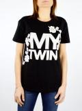 My Twin TWINSET T-SHIRT CON LOGO E RICAMO - 201MP235H 00006 - Tadolini Abbigliamento