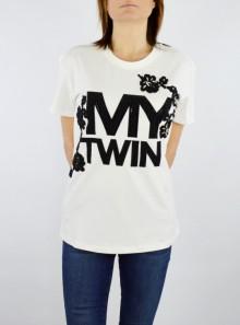 My Twin TWINSET T-SHIRT CON LOGO E RICAMO - 201MP235H 00381 - Tadolini Abbigliamento