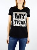 T-SHIRT WITH SEQUIN PANEL LOGO