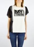 My Twin TWINSET T-SHIRT CON INSERTI IN GEORGETTE - 201MP2353 - Tadolini Abbigliamento
