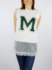 SLEEVELESS T-SHIRT WITH MAXI LOGO