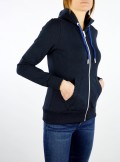 STRETCH COTTON HOODIE WITH ZIP