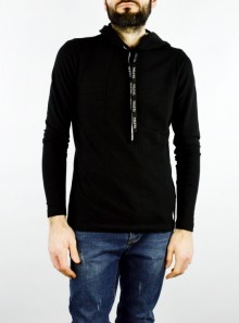 COTTON BLEND SWEATSHIRT WITH HOOD