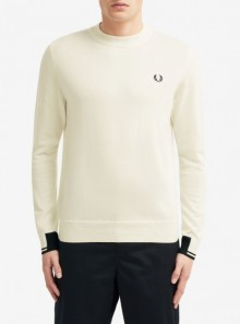 copy of ABSTRACT TIPPED CREW NECK JUMPER