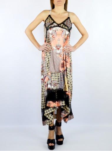 """ASYMMETRIC PATTERN DRESS """"TZUNAMI"""""""
