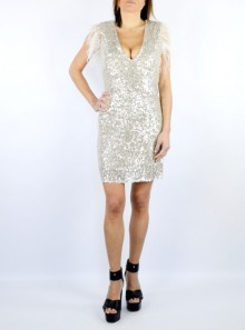 "SHORT DRESS WITH ALL OVER SEQUINS ""ARTYR"""