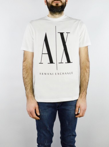 REGULAR FIT CREW-NECK T-SHIRT WITH MAXI LOGO