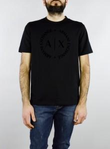 AX Armani Exchange T-SHIRT GIROCOLLO REGULAR FIT CON MAXI LOGO - 8NZTCD-Z8H4Z - Tadolini Abbigliamento