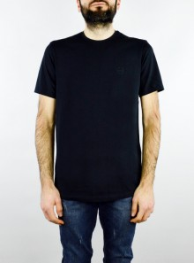 STRETCH SOLID T-SHIRT WITH LOGO