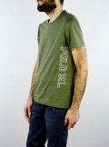 COTTON T-SHIRT WITH SIDE MAXI LOGO